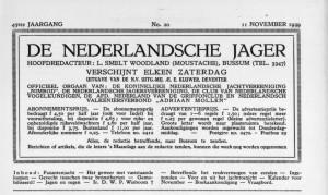Cover De jager 11 november 1939