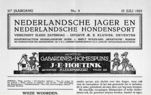 Cover De jager 25 juli 1925