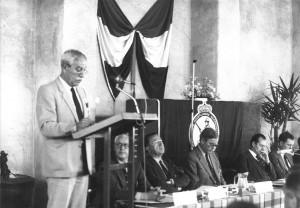 De vergadering van de Jagersvereniging in 1983
