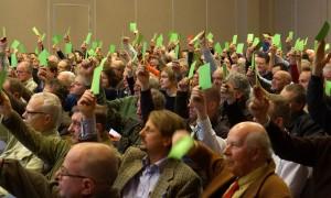 Leden stemmen over de nieuwe wet natuur